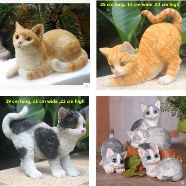Садовая фигура Кошка (11 видов)