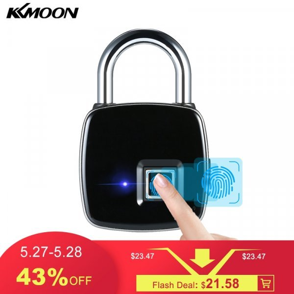 Умный замок для мебели, ворот и багажа KKMOON (отпечаток)