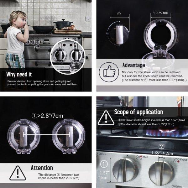 Блокировщик ручек плиты, защита от детей – 6 шт.