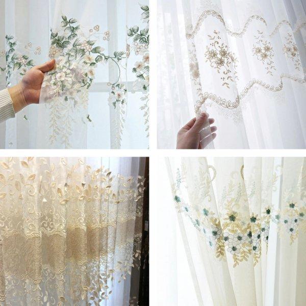 Шторы с цветочной вышивкой