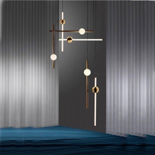 Линейный потолочный светильник  в стиле Минимализм (8 видов)