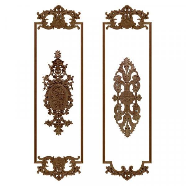 Деревянные накладки для декора дверей шкафа от VZLX (31 вид)