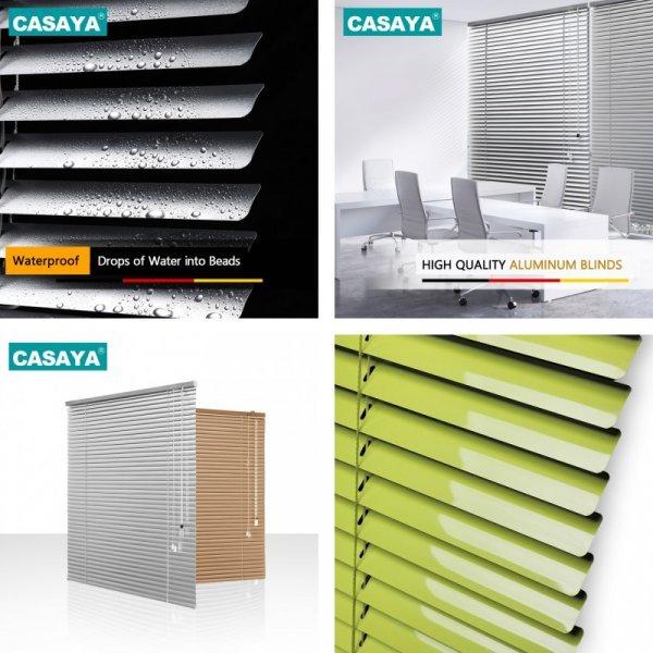 Практичные алюминиевые жалюзи CASAYA (19 цветов, 12 размеров)