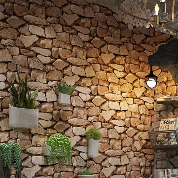 ХИТ! Объемные ПВХ-обои для коридора и гостиной под Кирпич (0.53*10 м)