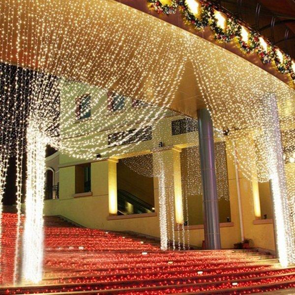 Роскошная светящаяся штора AIFENG  (5 цветов, 3*3 м)