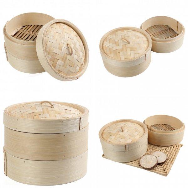Двухуровневая бамбуковая пароварка от SAFEBET