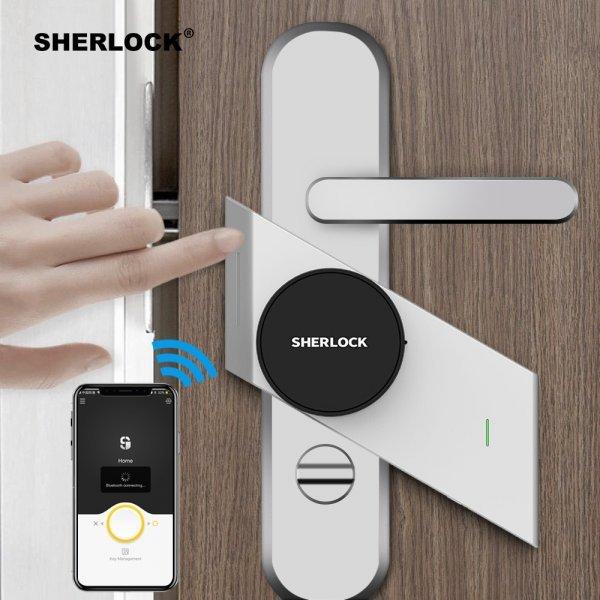 Дверной замок с отпечатком и паролем Sherlock